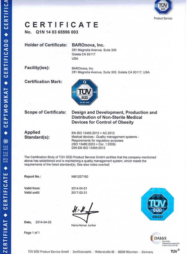 ISO134852003 Certificate_2016